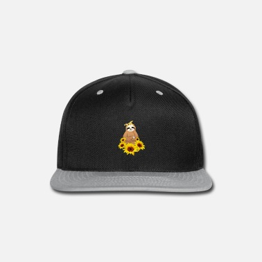 Sloth Sunflower Sloth - Snapback Cap