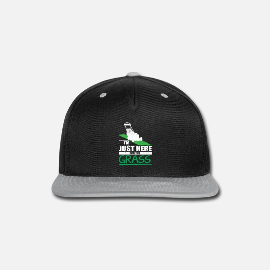 Lawn Caps - Lawn Care Funny Lawn Mower Grass Mowing - Snapback Cap black/gray
