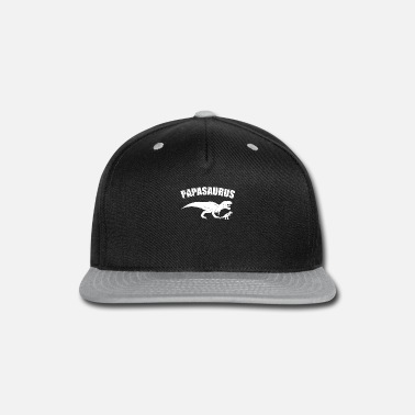 Son Papasaurus Father and Son - Snapback Cap