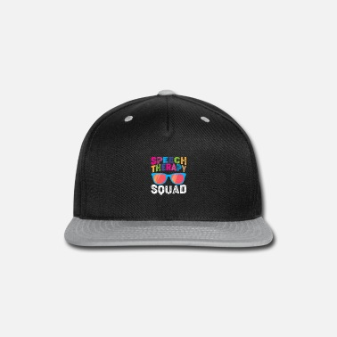Speech Balloon Speech Pathologist Pathology Speech Therapy Squad - Snapback Cap