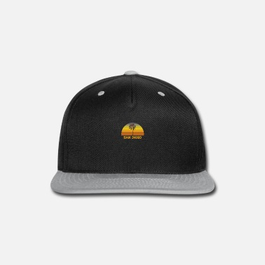San Diego San Diego California Palm Tree Christmas Lights - Snapback Cap