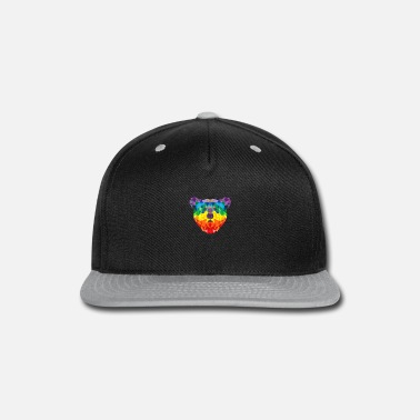 Geometric Bear LGBT Rainbow Flag Gay PRIDE T Shirt - Snapback Cap