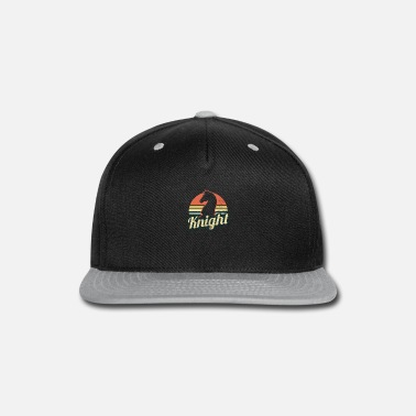 Chess Chess Knight Vintage Retro Sunset Gift - Snapback Cap