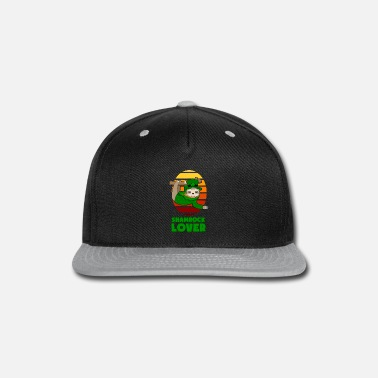 Shamrock St Patricks Day Shamrock Lover Sloth gift - Snapback Cap