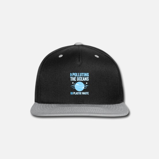 Gift Idea Caps - Stop Polluting The Oceans With Your Plastic Waste - Snapback Cap black/gray