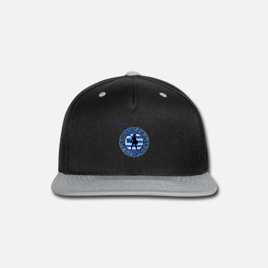 Greek Greek Spartan. Cool Greek DNA. Greek Flag - Snapback Cap
