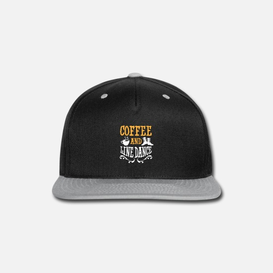 Line Caps - Line Dancing Coffee Gift I Country Western Line - Snapback Cap black/gray