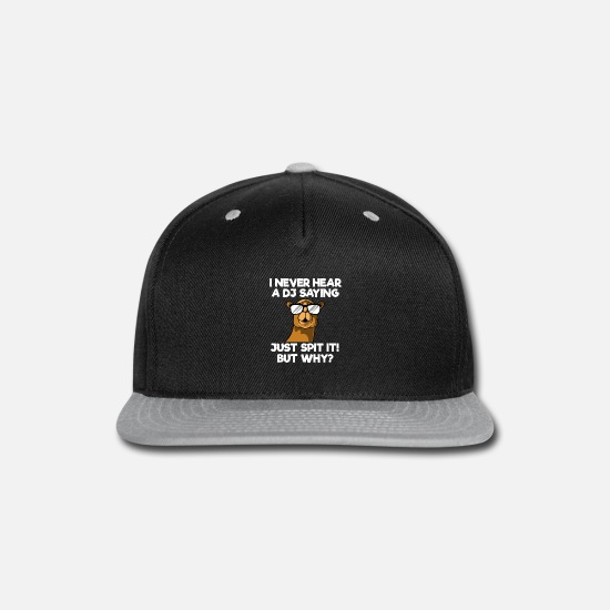 Electronic Caps - DJ Camel Dessert Animal Gift I Disc Jockey EDM - Snapback Cap black/gray