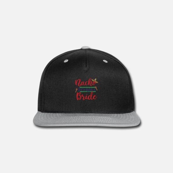Bride Caps - Funny Nacho Average Bride Cinco De Mayo graphic - Snapback Cap black/gray