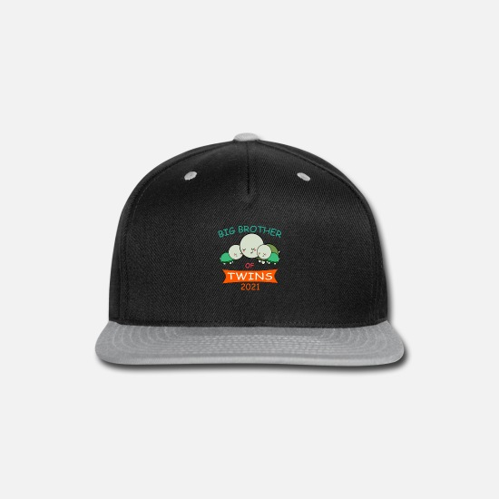 Twin Caps - Big Brother of Twins 2021 Turtle Twin - Snapback Cap black/gray