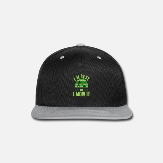 Gift Idea Caps - lawn mowing - Snapback Cap black/gray