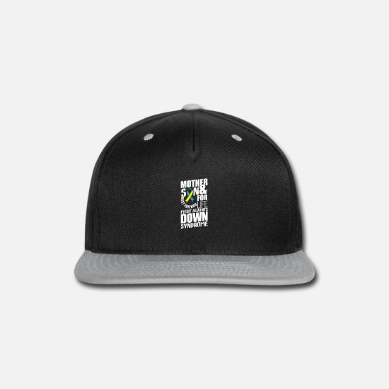 Mother Caps - Mother & Son Best Friends For Life Fight Against - Snapback Cap black/gray