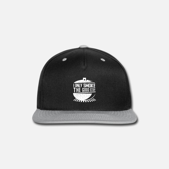 Bbq Caps - Barbecue I Only Smoke BBQ Grilling Gifts - Snapback Cap black/gray