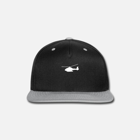 Helicopter Caps - Helicopter - Snapback Cap black/gray