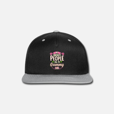 My Favorite People Call Me Grammy Shirt Christmas - Snapback Cap