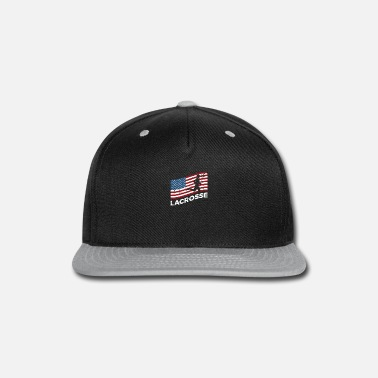 Team Player USA Flag Lacrosse Player Sayings Gift - Snapback Cap