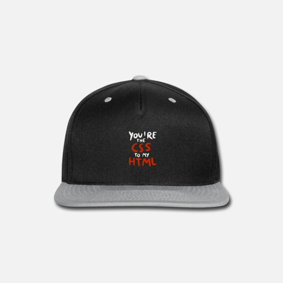 Tech Caps - You're The CSS to my HTML - Snapback Cap black/gray