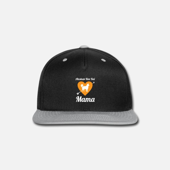 Love Caps - Alaskan Clover Kai Mama Dog Love - Snapback Cap black/gray