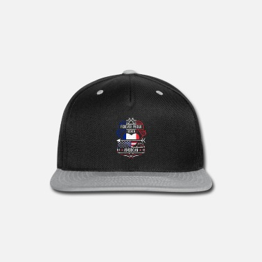 Nations Forever Proud French American - France Heart - Snapback Cap