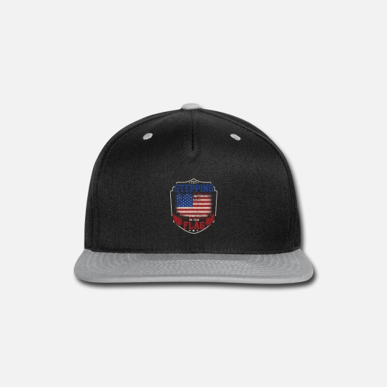 Bald Eagle Caps - Try stepping on this flag - Snapback Cap black/gray