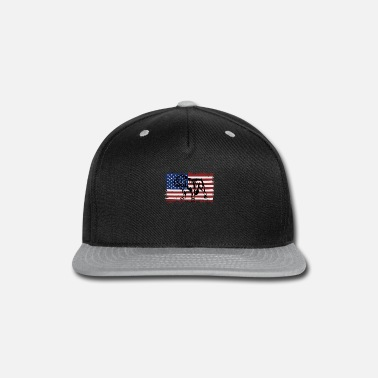Vintage English Bulldog US Flag Independence Day - Snapback Cap