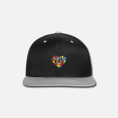Heart OT Squad Month Cute Colorful Heart Love - Snapback Cap