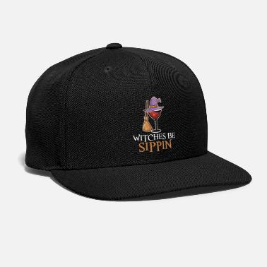 Ghastly Wine Drinking Team Women Halloween Witches Be Sipp - Snapback Cap