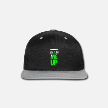 Government Beam Me Up Shirt Alien Conspiracy Abduction Green - Snapback Cap