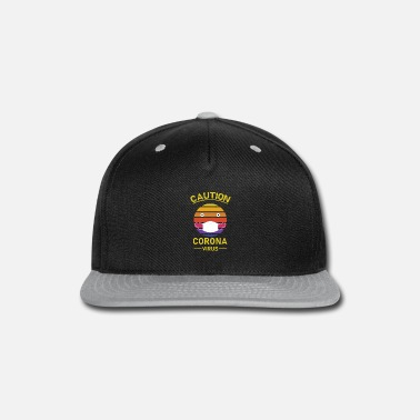 Back To School caution corona virus - Snapback Cap