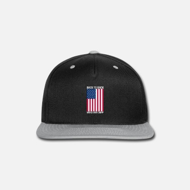 Merica Back To Back World War Champ Patriotic 4th - Snapback Cap 1f13543d749