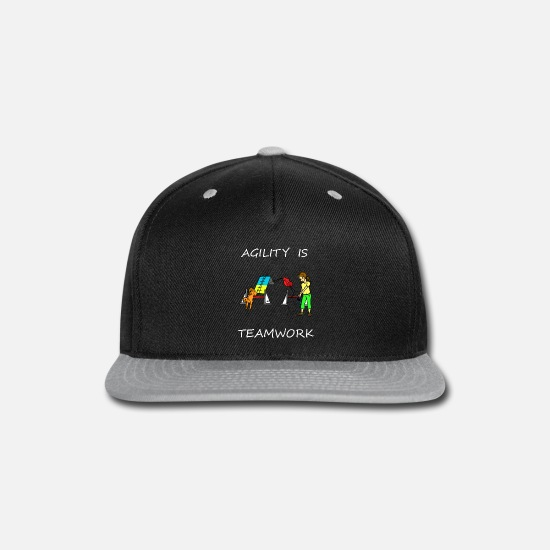 Dog Caps - Agility Is - Teamwork! - Snapback Cap black/gray