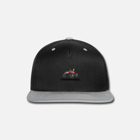 Gift Idea Caps - UNSTOPPABLE Monster Truck - Snapback Cap black/gray
