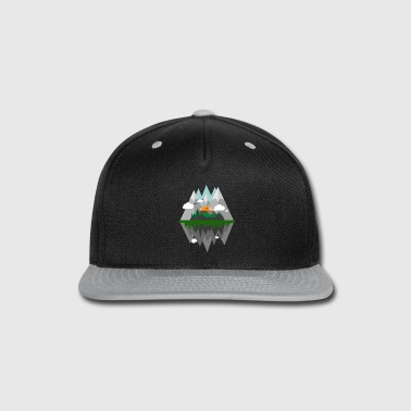 Horsetooth Reservoir Abstract Cartoon - Snap-back Baseball Cap