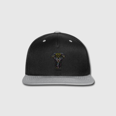 Decoration colored elephant decorative - Snap-back Baseball Cap
