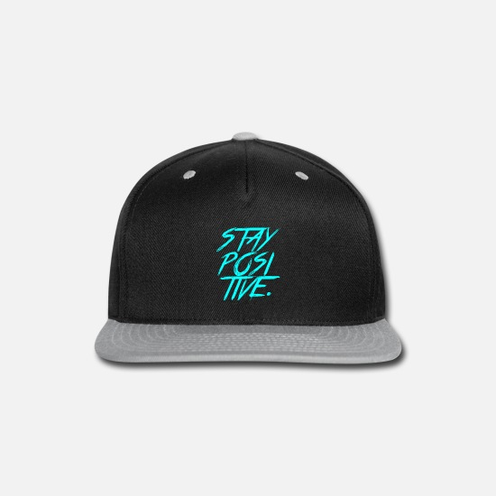 Quote Caps - STAY POSITIVE - Snapback Cap black/gray