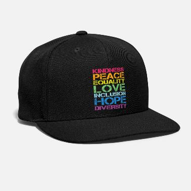 Human Righ Peace Love Inclusion Equality Diversity Human Righ - Snapback Cap