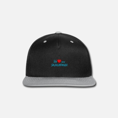 I Heart i love my drinking buddies - Snapback Cap