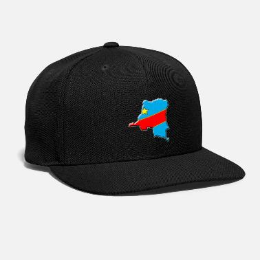 Congo Republic of Congo Flag map - Snapback Cap