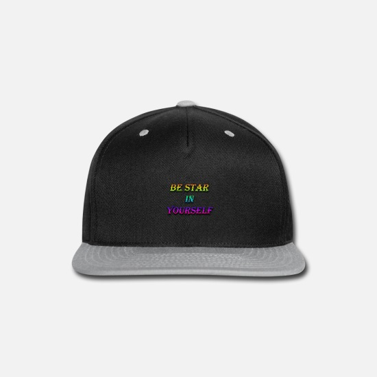 Starry Sky Caps - be star in yourself - Snapback Cap black/gray