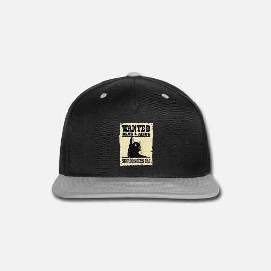 Tv Caps - WANTED DEAD AND ALIVE SCHRODINGER'S CAT - Snapback Cap black/gray