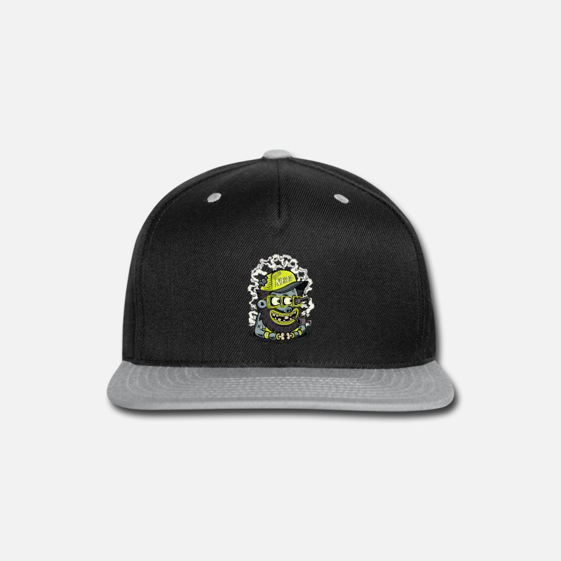 Movie Caps - Nerd Captain - Snapback Cap black/gray