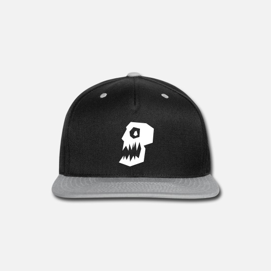 Halloween Caps - Skull with open mouth - Snapback Cap black/gray