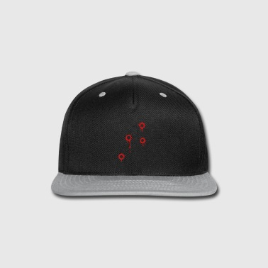 Gang-bang GUNSHOT, BULLET HOLES - Snap-back Baseball Cap
