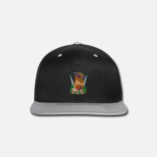 Gift Idea Caps - Tiki mask skull - Snapback Cap black/gray