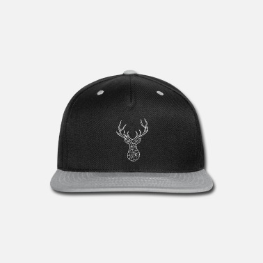 Antler white deer geometric antler - Snap-back Baseball Cap