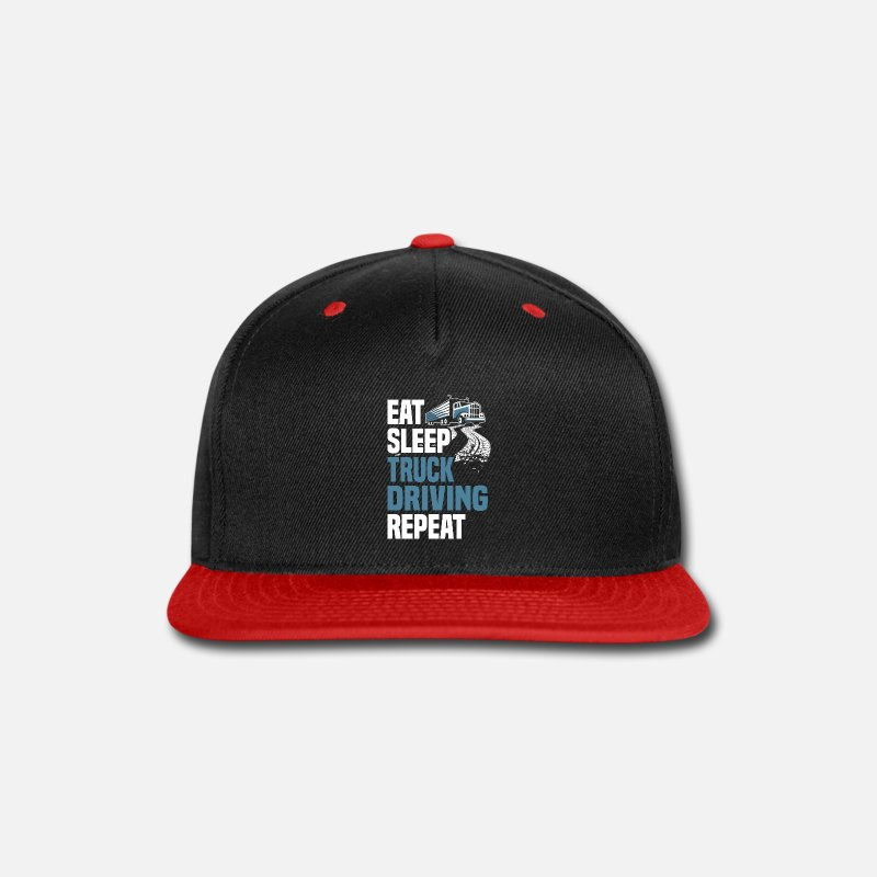 Best Funniest Truck Driver T Shirts Quotes Gift Snap Back Baseball Cap Blackred