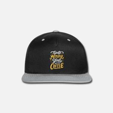 Good Morning Coffee T-Shirts for Men Classic T-Shi - Snapback Cap
