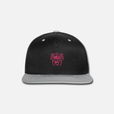 Congratulations 15th birthday saying funny funny themed trend - Snapback Cap