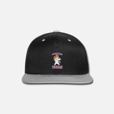 Aunt Awesome Dabbing Aunticorn Rainbow Aunt Dance Gift - Snapback Cap
