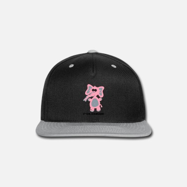 Breast Cancer Fight Fight Fuck Cancer Breast Comic Elephant Fun - Snapback Cap